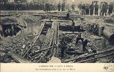 France CPA Paris Orage 15 Juin Canalisations (f1269)