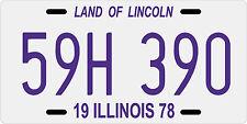 Halloween movie Michael Myers 1978 Illinois License plate