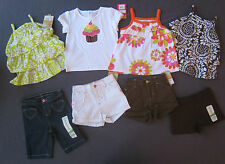 New 18 month Girl Summer clothes LOT $132 rv Shorts Tops Capri Pants Outfit NWT
