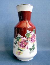 Vase Art Déco Porcelaine GDR Courrone décor Roses