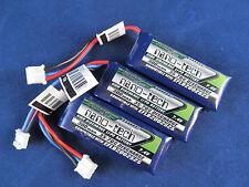 3 New Turnigy nano-tech 300mah 2S 35C Batteries Lipo EFLB2002S25 umx mig stryker