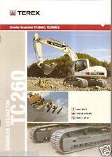 Equipment Brochure - Terex - Tc 260 Lc Nlc - Excavator - 2005 (E1948)