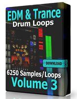 EDM & Trance Drum Loops Volume 3 Pro Tools FL Studio Ableton Logic Reaper Acid