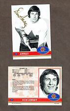 1972 Team Canada Don Awrey Autographed Card