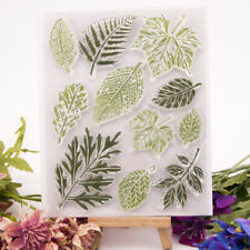 leaves transparent clear silicone stamp for diy scrapbooking photo decoratjon
