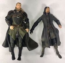Lord of the Rings Action Figures~ Lot of 2~Aragorn~Legolas~Marvel~2001/2002~