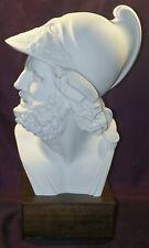 Buste Hoplite grec Albâtre et bois 40 cm