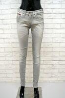 Jeans Grigio Donna TOMMY HILFIGER Taglia 29 Pantalone Vita Alta Pants Woman Slim