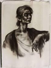 SUPERB expressive 1933 drawing, Art Deco era, Austrian artist, signed