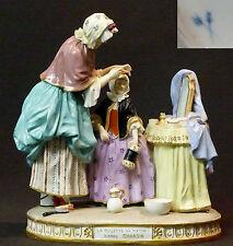 1840 remarquable statuette group porcelaine 1kg19cm CHARDIN rue de la Roquette