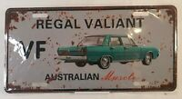 Chrysler Regal Valiant Blue Australian Muscle Car Distressed Metal License Plate