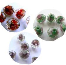 Murano/Lampwork Glass Rondelle Jewellery Beads