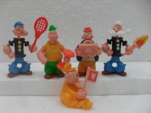 POPEYE-BRACCIO DI FERRO serie di 5 figures Kinder componibili 1991 USATI