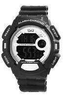Q&Q Herrenuhr Weiß Schwarz Digital Negativ Silikon Quarz Armbanduhr XM132J009Y