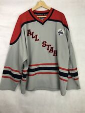 STEVE & BARRY'S CITY WIDE ALL STAR Men's Hockey Jersey Gray/Red/Blue Sewn XL