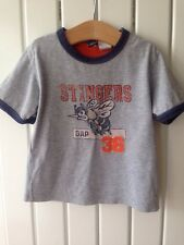 Baby Boy's Clothes 12-18 Months - Baby Gap Grey Wasp Theme Vest T-Shirt/Top
