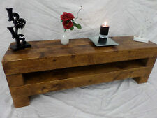 80cm Chunky Rustic Pine TV Stand Unit Cabinet Table