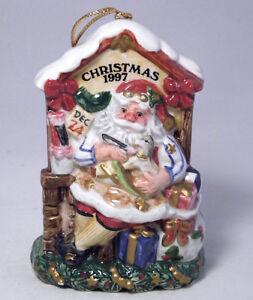 Fitz and Floyd Santas Magic Workshop Xmas Ornament Numbered LE Gold Gilt COA VTG