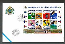 SAN MARINO BUSTA FDC 2001 IX GIOCHI DEI PICCOLI STATI D'EUROPA  Annullo SPECIALE