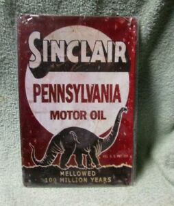 New Sinclair Pennsylvania Motor Oil   bar pub tin metal sign bar club shop