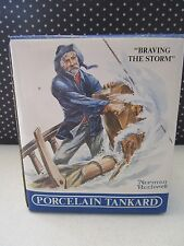 Norman Rockwell Porcelain Tankard - Braving The Storm - 1985