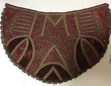 Elément d'habit Tissus XVIIIe a identifier ? Textile ancien velours argent etc
