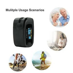 Pulsioximetro  Finger Pulse Oximeter  SpO2 , Pulse Rate PR,softbag CMS50N Black