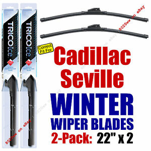 WINTER Wipers 2-Pack Premium Grade - fit 1992-2004 Cadillac Seville - 35220x2