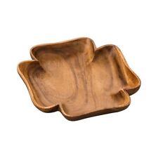 Socorro che servono Dish, 4 Leaf Clover Forma, legno di acacia