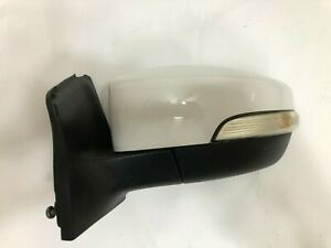 Ford Focus Drivers Left Door Side Mirror Oxford White YZ 2012 2013 2014