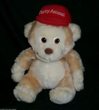 """8"""" VINTAGE RUSS BERRIE CO BROWN MONKEY PARTY ANIMAL 738 STUFFED ANIMAL PLUSH TOY"""