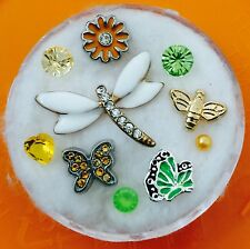 Floating Charm Set~*~Dragonfly Bumble Bee Flower Spring Summer~*~Living Lockets
