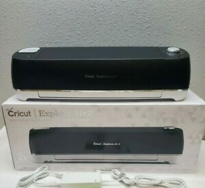 Black Cricut Explore Air 2 Smart Cutting Machine With Blade &Mat
