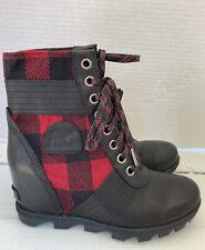 NEW Sorel Lexie Plaid Wedge Boot sz 9.5