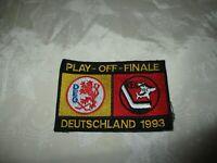"""Düsseldorfer EG/Kölner EC Eishockey Aufnäher """"PLAY-OFF-FINALE DEUTSCHLAND 1993"""""""