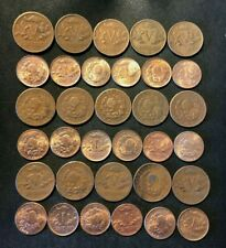Old Colombia Coin Lot - 1944-1974 - 33 EXCELLENT Older Series Coins - Lot #A4