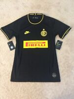 Men's Authentic Nike Inter Milan Pirelli Black Jersey Size Small AT0031-011 NWT