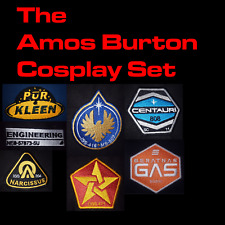 The Expanse Cosplay Amos Embroidered Sew On Patch Set