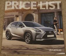 VERY LATEST August 2016 LEXUS IS NX GS New RX New RC RCF RC F LS PRICE LIST *