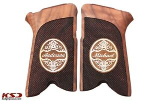 Ruger P85 89 90 91 Walnut Grip with Name and Last name