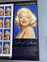 1995 MARILYN MONROE: Legends of Hollywood Mint Sheet 20 32¢ Stamps