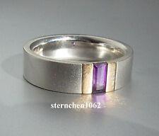 Einzelstück * Ring * 925 Silber * 585 Gold * Amethyst
