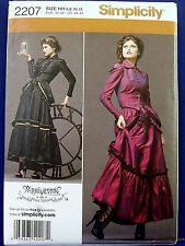 Simplicity Victorian Skirt Jacket Bustle Costume Sewing Pattern 6,8,10,12 2207