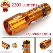 2200 Lumens Portable CREE XM-L T6 LED High Power Adjustable Focus Flashlight