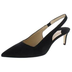 Paul Andrew Womens Coquette 55MM Suede Stretch Slingback Heels Shoes BHFO 6934