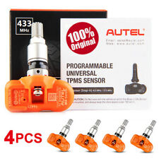 4 Autel 433MHz Programmable Tire Pressure Metal Sensor Activate TPMS Programming