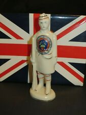 Antique Crested China, Ww I, Scottish Soldier At Attention