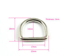 50 Pieces 17mm Nickel Color Welded Metal D Ring For Purse Bag Handbag