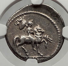 LEPIDUS as Moneyer Triumvir w/ Mark Antony Augustus Silver Roman Coin NGC i61202