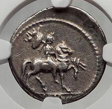 LEPIDUS as Moneyer Triumvir w/ Mark Antony Augustus Silver Roman Coin NGC i61202